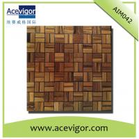 Cheap Solid wood mosaic tiles for wall decoration for sale