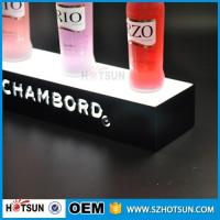Cheap factory direct sale clear display holder stand, laser cutting thick acrylic customized led base for sale