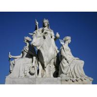 Quality white marble women statues with cattle wholesale