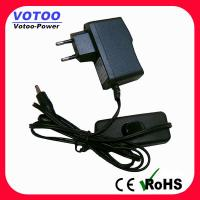 Cheap Wall Plug AC DC Power Adapter 1A 110v - 220v Over Voltage Protection for sale