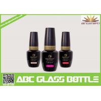 Cheap wholesale  new design fancy hot selling good quality lacquer black color nail gel polish glass bottle with cap and brush for sale