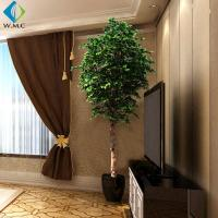 China Wood Trunk Faux Birch Tree , Green Faux Evergreen Trees Customized Design on sale