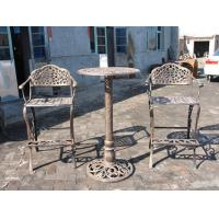 Quality Unique Metal Wrought Iron Cast Iron Garden Table And 2 Chairs Eco - Friendly wholesale