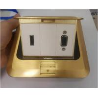 Quality Brass Copper Fggp Golden RJ45 Floor Socket Hdmi Vga Data Floor Electrical Outlet wholesale