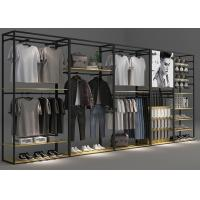Quality Modern Functional Retail Clothing Racks Optional Matte Black Coating Color wholesale