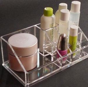 Quality Crystal Acrylic Cosmetic Display Holder , Transparent Acrylic Makeup Display Holder wholesale