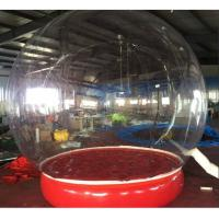 Quality Inflatable Bubble Show Ball Inflatable Red Bubble Tent For Display 2M D wholesale