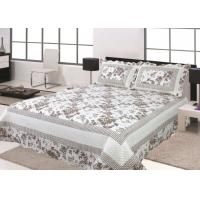 Quality Floral Design Home Bed Quilts Soft Silky With 100 Percent Polyester Material wholesale