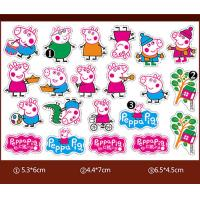 Quality Multiple Color Chocolate Transfer Molds / Peppa Pig Chocolate Mold For Children DIY wholesale