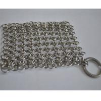 Quality Round Stainless Steel Ring Mesh / Chainmail Scrubber For Cleaning Kitchenware wholesale