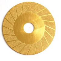 Cheap 4 Inch Titanium Plating Diamond Tile Blade Wave Cutting Wheel Grinding Disc for sale