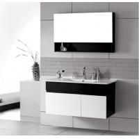 Quality Brass Drainage contemporary floating vanity , dual / two sink bathroom vanities Pure white wholesale