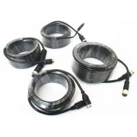 Quality 4 Pin Vehicle Monitor Aviation Cable , Video / Audio Cctv Camera Cable wholesale