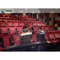 Quality Extraordinary Sound Vibration 4D Movie Theater With Black Vibration Chairs wholesale