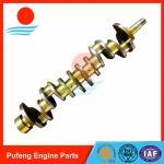 Quality Isuzu crankshaft on sale, OEM standard 6BB1 crankshaft 1123104360 used for excavator EX100W UH05 wholesale