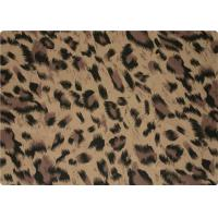 Quality 100% Polyester Stretch Fabric Leopard Print Fabric For Interlining / Lingerie wholesale