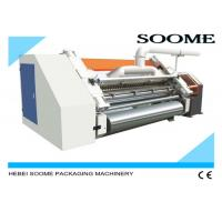 China 2 Layers Corrugated Cardboard Production Line Single Facer With Speed 100M/Min on sale