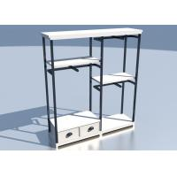 Cheap Apparel Store Retail Clothing Racks Custom Made Size Wooden Metal Material for sale