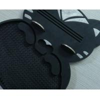 Quality Black Plastic Coin Tray Non Slip Soft PVC Cash Tray For Restaurant wholesale