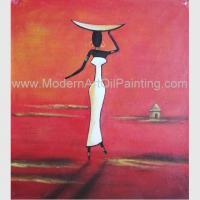 Quality Abstract Modern Oil Paintings , Handmade African Women Canvas Painting Acrylic wholesale