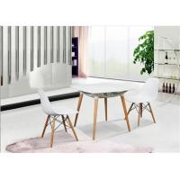 Quality Elegant Simplicity EAMES Plastic Chair , PP White Charles EAMES Dining Chair wholesale