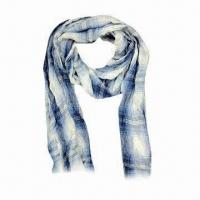 China Viscose Scarves with Fashionable Check Design on sale
