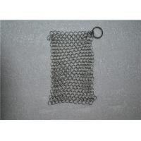 Quality Square Shape Stainless Steel Chainmail Cast Iron Cleaner Lightweight wholesale