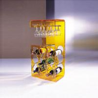 Quality Yellow Acrylic Display Case Holder Rack For Wine Bottle Shelves wholesale