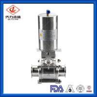 Quality 3PC  Hygienic Ball Valve Low Pressure PTFE Sealing High Polished Dust Proof wholesale