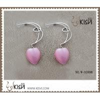 Quality Pink Fashion 925 Sterling Silver Gemstone Earrings with Opal W-AS998 wholesale