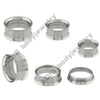 Quality Double - Flared Stainless Steel Threaded Tunnel For Ear 21mm , 22mm , 23mm Internally wholesale