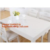 China DIY Round PVC Table Cover Protector Desk Mat Table Cloth Pvc Transparent,stamping table cloth plaid PVC table cover on sale