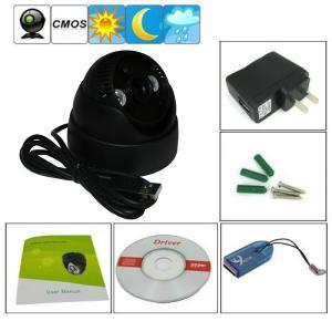 "Quality K902 Double Lamp Array IR Night Vision Mini Dome 1/4"" CMOS CCTV Surveillance TF DVR Camera wholesale"