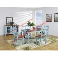 Cheap Mediterranean Style Dining room Furniture by wood table and chairs with Buffet for sale