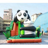 China 0.55 PVC Inflatable Dry Slide / 5×8 Meter Panda Commercial Inflatable Slide on sale
