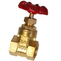 Quality Lightweight Forged Steel Valves / 2 4 Inch Brass Gate Valve Simple Structure wholesale