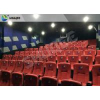 Quality New Design 4D Movie Theater Red Chairs Pneumatic System / Hydraulic System wholesale