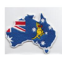 Velvet Custom embroidery patches Twill 100%  Embroidered Flag Patches