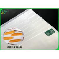 Cheap 29G 31G Coated Paper Roll , Customized Anti Stick White Baking Paper for sale