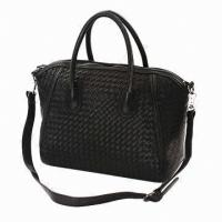 Quality Black Fashion Crossbody Leather Bags For Women Weekend Working / Meeting wholesale