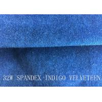 Buy cheap 32W SPANDEX INDIGO VELVETEEN FOR PANTS FOR GARGEMT from wholesalers