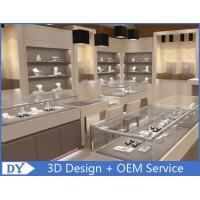 Quality Fashion Jewelry Store Interior Showroom Display Cases MDF + Tempered  Glass wholesale