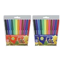 China cheap advertising art marker pen in PVC pouch packing on sale