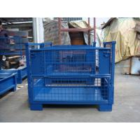 Quality Galvanized Steel Stacking Pallets  Electrostatic Powder Coating Blue  Grey Color Available wholesale