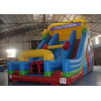 China Rock Climbing Inflatable Slide ,  Double Slide Way Dry Slide in Stock on sale