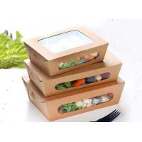 China Coated kraft paper Takeaway Food Packaging / Takeaway Salad Containers on sale