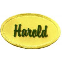 Quality Harold name patch no minimum DYED personalized name badge wholesale