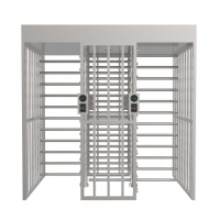 Quality 24V Dual Lanes Stainless Steel Full Height Turnstile 60w wholesale
