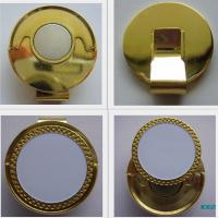 Quality Gold / Antique gold Epoxy Coating magnetic hat clip and ball marker wholesale