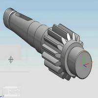 Quality Long Life Forged Stainless steel Bevel Gear Shaft For Mining Truck 5MT for sale